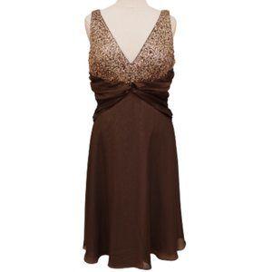 JS Boutique Beaded/Chiffon/Satin Dress NWT- Sz. 12